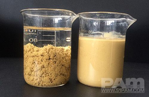 洗砂水污废水絮凝效果