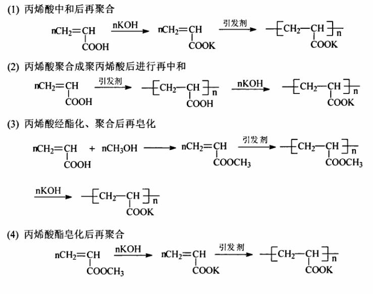 聚丙烯酸钾的合成方法